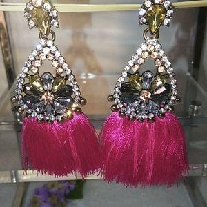 Statement 💗 Pink 💟Tassle Earrings ♥️